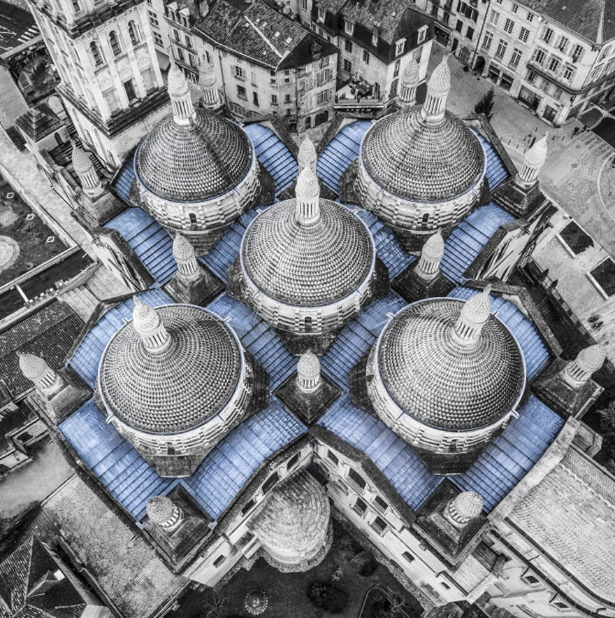 9. Cathedral Saint-front, Perigueux, France - 12 of The Most Stunning Images Captured By Drones In 2015