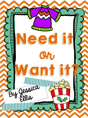 https://www.teacherspayteachers.com/Product/Needs-and-Wants-959540