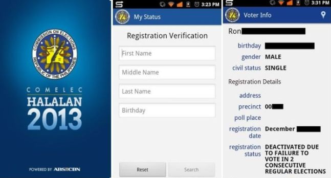 COMELEC Halalan 2013 App for Android devices now available
