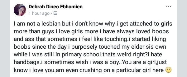 Is this Nigerian girl seeking for attention or really confused about her sexuality?
