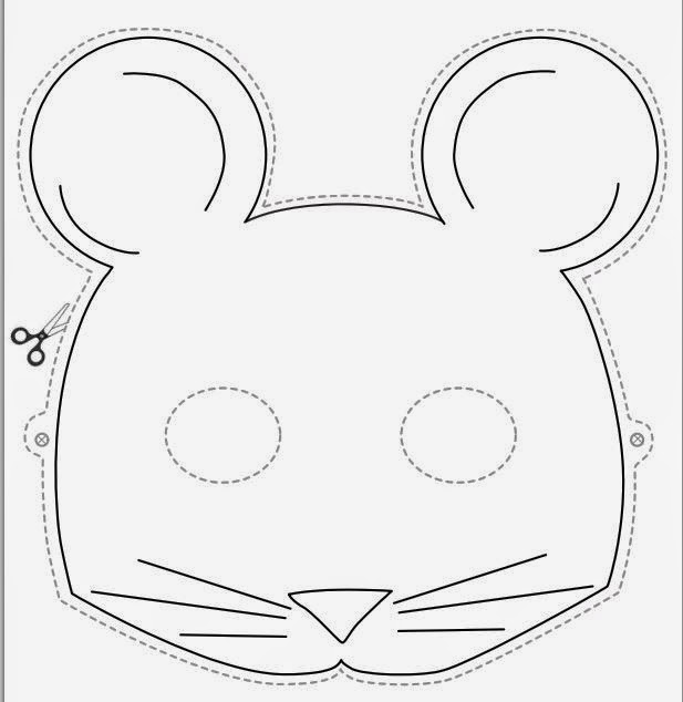 M scaras de animales para imprimir gratis ideas y for Printable mouse mask template