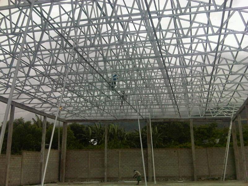 kanopi baja ringan pontianak berapakah harga pemasangan rangka atap ...