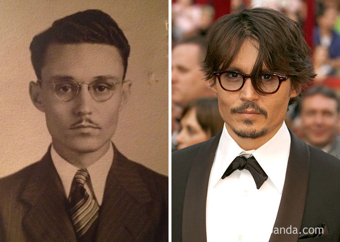 #2 My Great Grandfather Looks Just Like Johnny Depp - 10 Celebrity Lookalikes That Prove Time Travel Exists