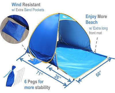OutdoorsmanLab Pop Up Beach Tent