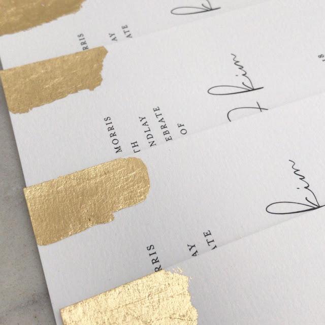 GOLD WEDDING STATIONERY INVITATIONS SIGNAGE DESIGNER