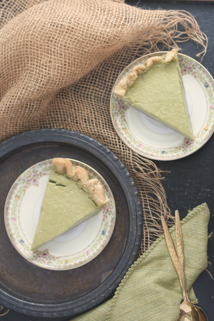 Matcha Buttermilk Pie