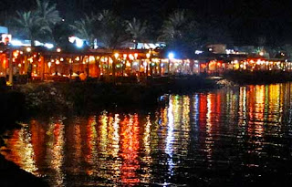Seaside Restaurants Night Dahab Egypt