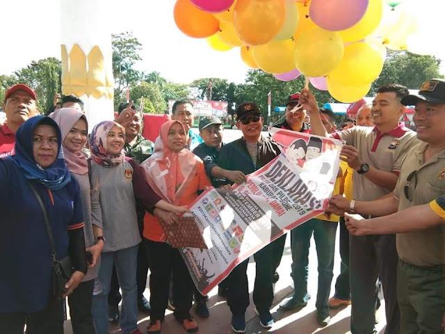 Wujudkan Pemilu 2019 Aman, Damai dan Sejuk di Bone, Kapolres Bersama Pemkab Bone Gelar Deklarasi Bersama