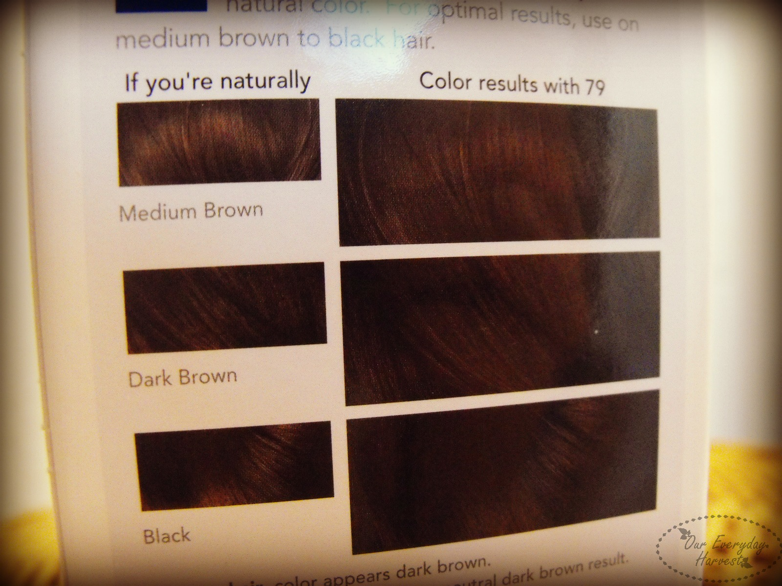 Nice And Easy Hair Color Chart