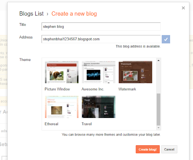 how to make a blog on blogger,how to make free blog