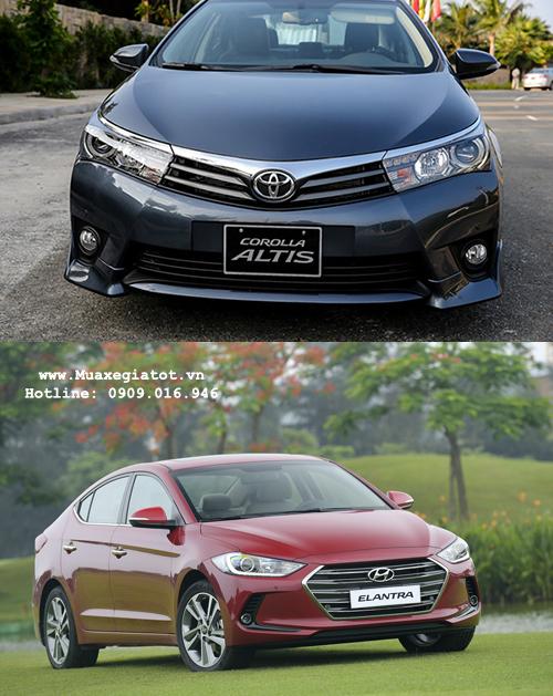 So sánh Toyota Altis và Hyundai Elantra : Thương hiệu lâu đời đối đầu với trang bị đa dạng