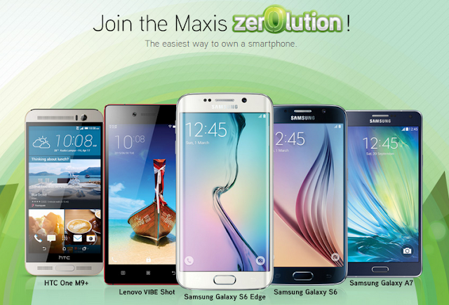 HTC, LENOVO and SAMSUNG Smartphones available for Maxis Zerolution now