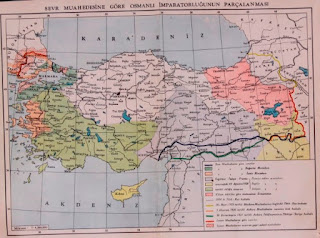 Sevr'e göre Türkiye haritası