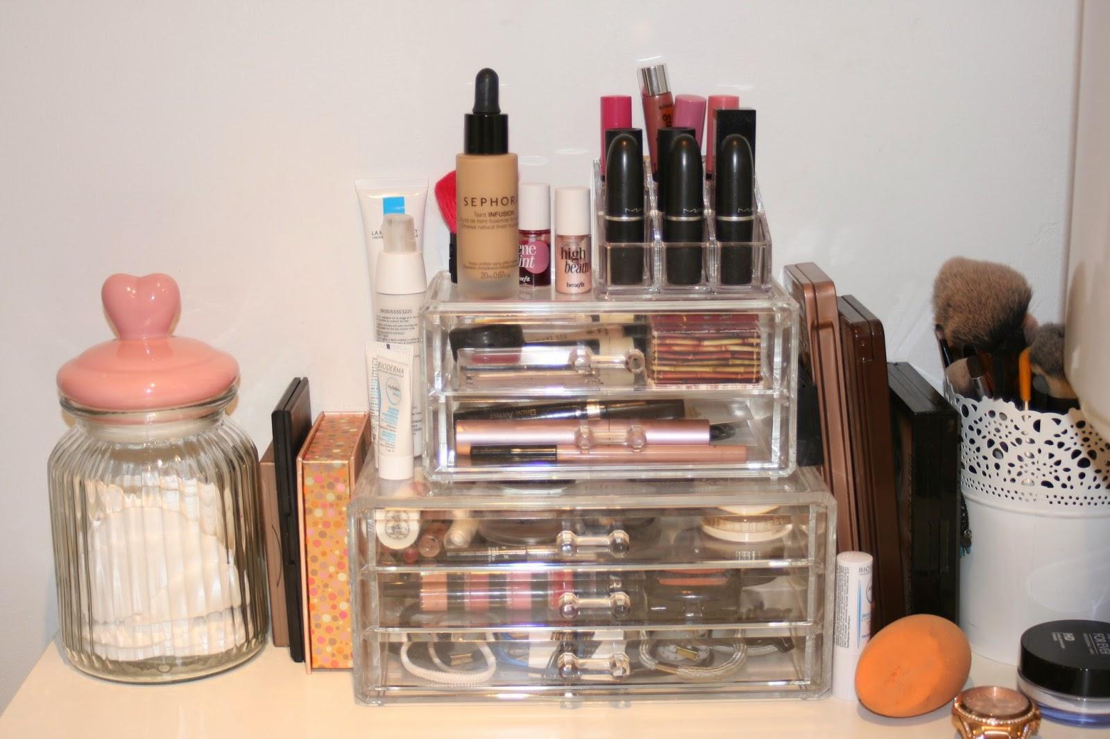 astuces n 1 comment ranger son make up id es de rangement maquillage les papoteuses. Black Bedroom Furniture Sets. Home Design Ideas