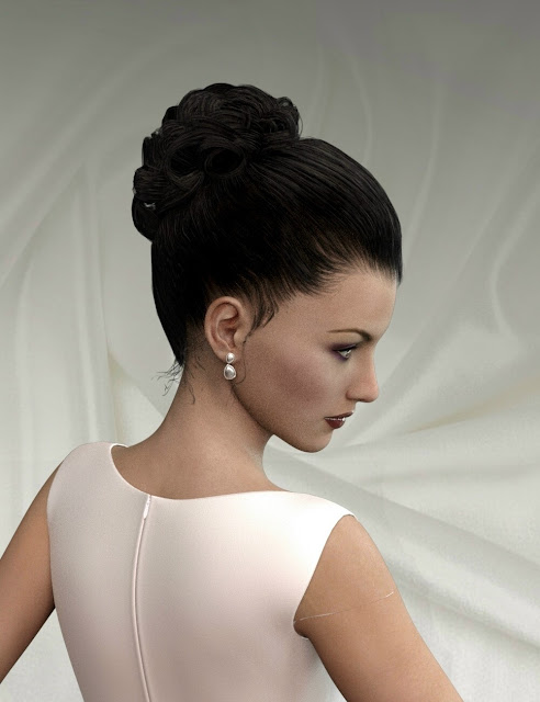 Classic Updo Hairstyle for Genesis 3 Female