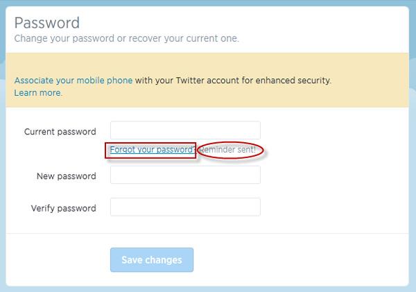 شرح طريقة استرجاع كلمة مرور حساب تويتر Password Twitter