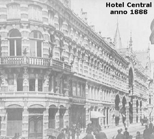 Hotel Central, Lange Poten 10, The Hague - circa 1888  (from If Then Is Now site)