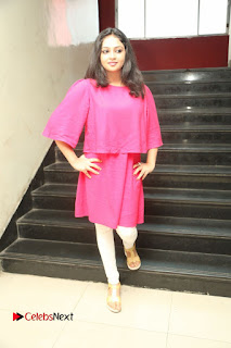 Actress Arundathi Nair Stills in Red Chididar at Bethaludu Success Meet  0129.JPG