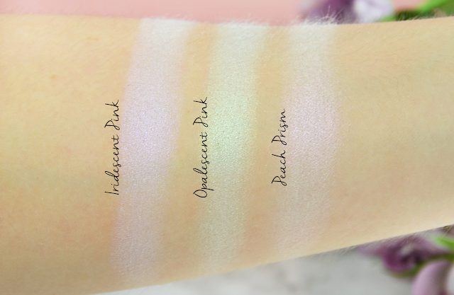 L.O.V LOVillusion Holographic Highlighter Palette in shade No. 100 Prismatic Attitude Swatches