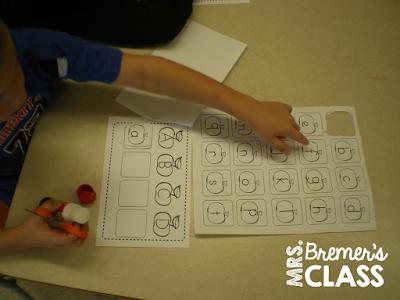Literacy activity centers for Kindergarten