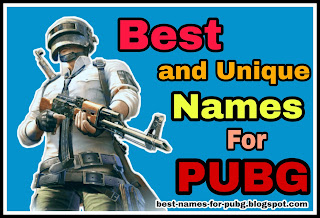 best names for pubg