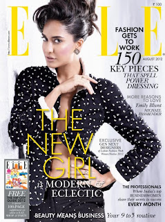 Lisa Haydon Photo shoot for Elle India - August 2012 issue