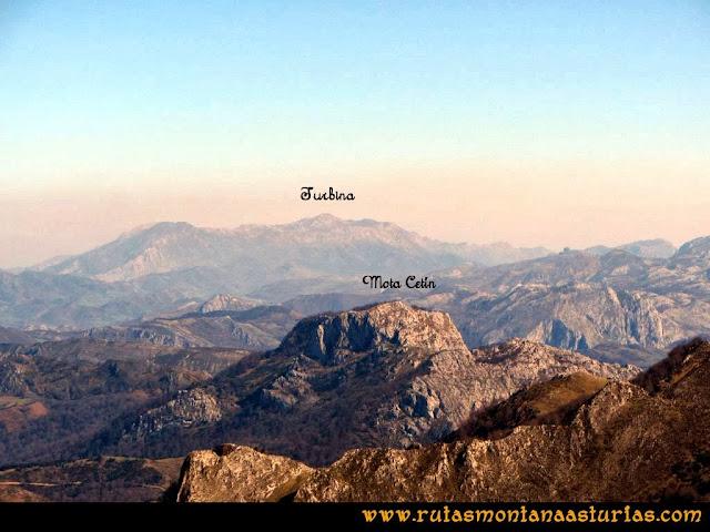 Ruta Pico Vízcares: Desde la cima del Vízcares, vista del Turbina y Mota Cetín