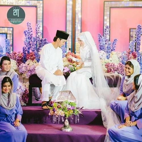 Gambar Jihan Muse nikah, gambar pernikahan Jihan Muse, 6 gambar nikah Jihan Muse dan suami Ungku Hariz, foto majlis akad nikah Jihan Muse, gambar suami Jihan Muse, majlis resepsi Jihan Muse