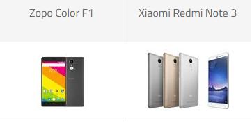 Zopo color F1 vs Xiaomi Redmi Note 3