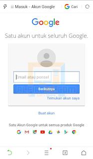 Login menggunakan akun Gmail untuk GmailBot