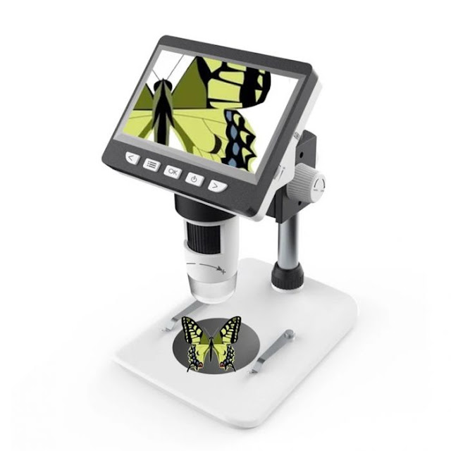 $35.99 / €30.90 for Inskam307 Portable Desktop LCDDigital Microscope with High Brightness 8 LEDs