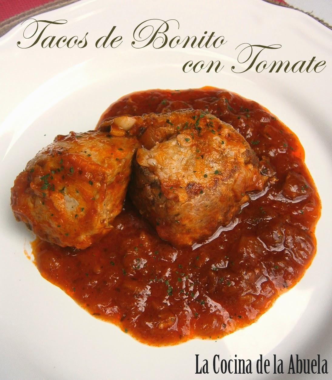 Tacos de Bonito con Tomate