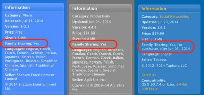 Apple Uji Fitur Family Sharing di App Store