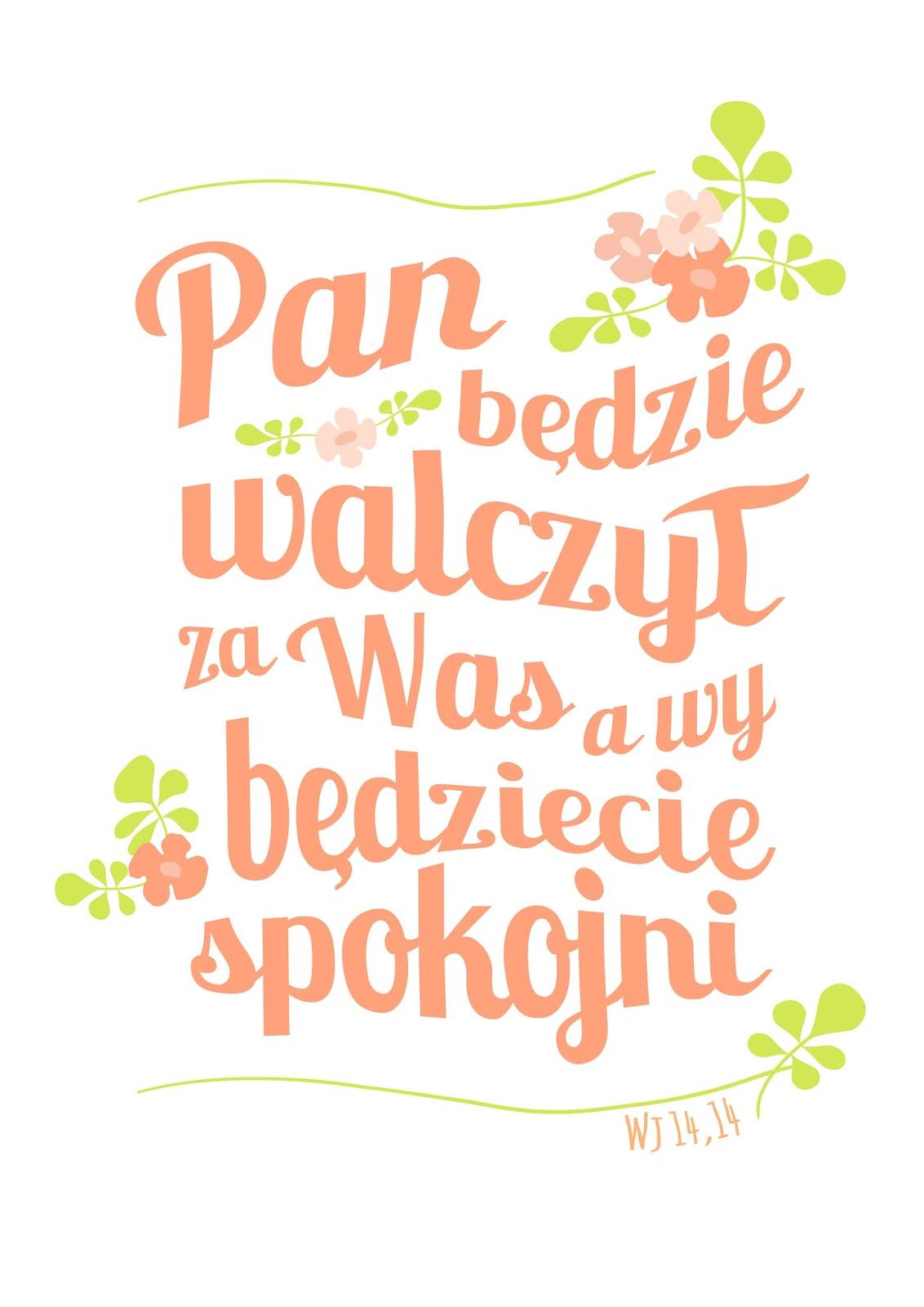 Plakaty Z Cytatami Z Biblii Piafka