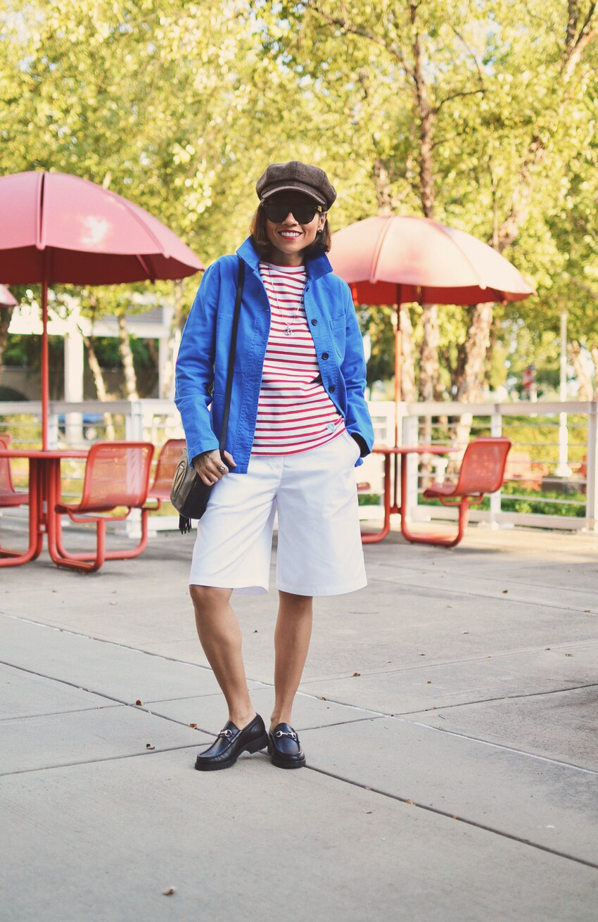 Bermuda Shorts Street Style Look