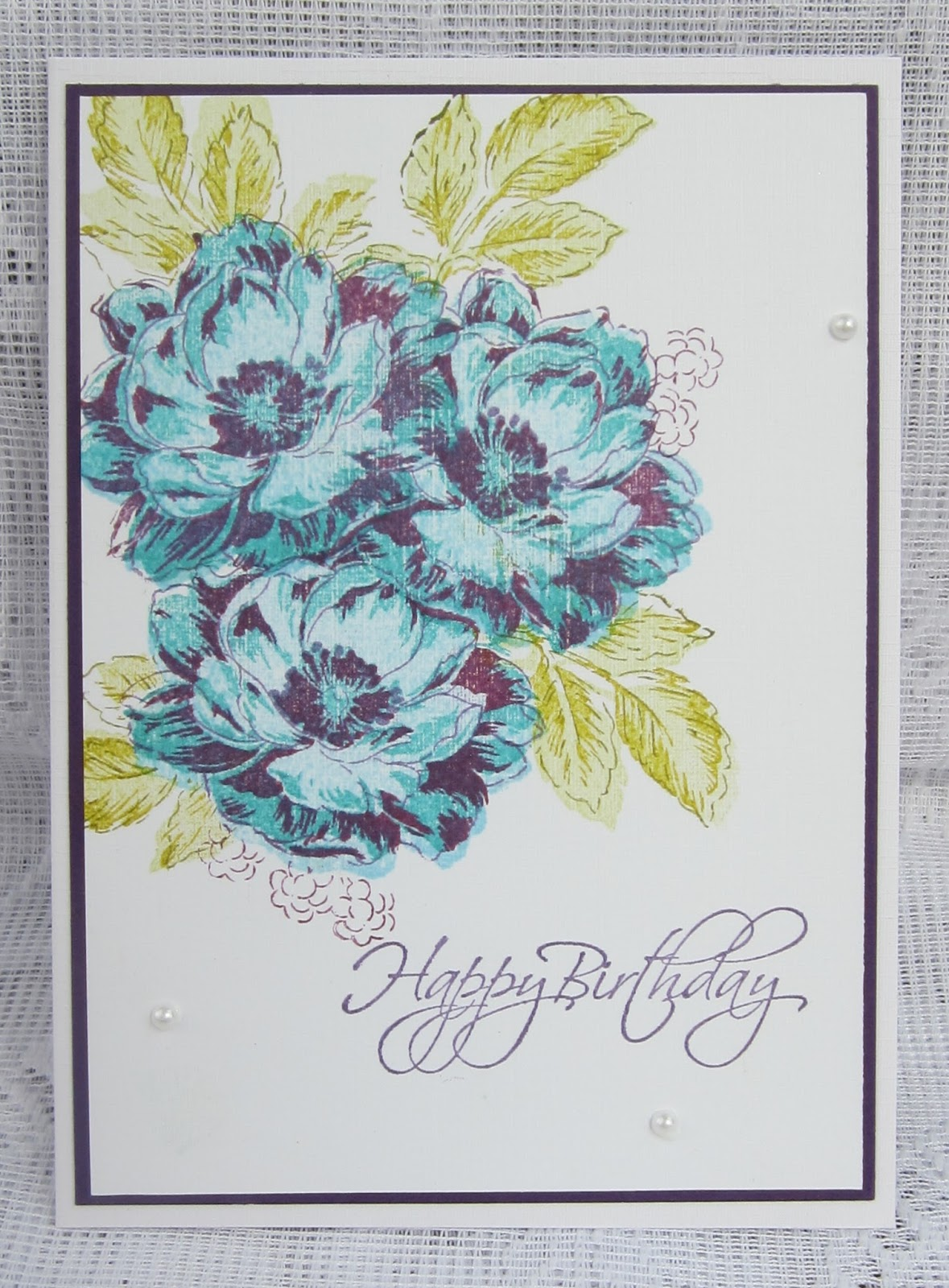Floral fantasies fabulous blooms heres another one using shades of blue and purple and i quite like the contrast and depth the deeper colours give i have so many colour combinations i izmirmasajfo
