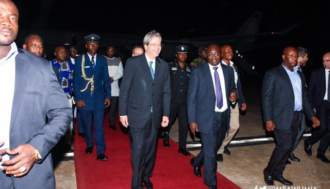 Italian PM arrives in Ghana for bilateral talks