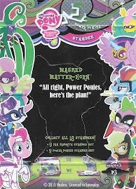 My Little Pony Masked Matter-horn Series 3 Trading Card