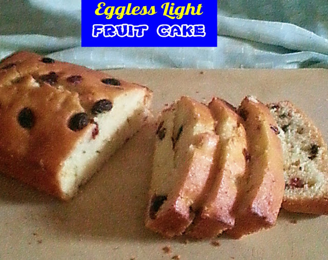 Eggless Light Fruit Cake Recipe @ treatntrick.blogspot.com