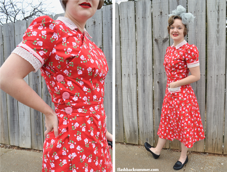 Flashback Summer: Early 1940s Valentine's House Dress