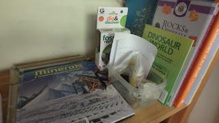 Shelf of science books