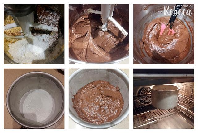 Receta de bizcocho de chocolate (pound cake o cuatro cuartos) 03