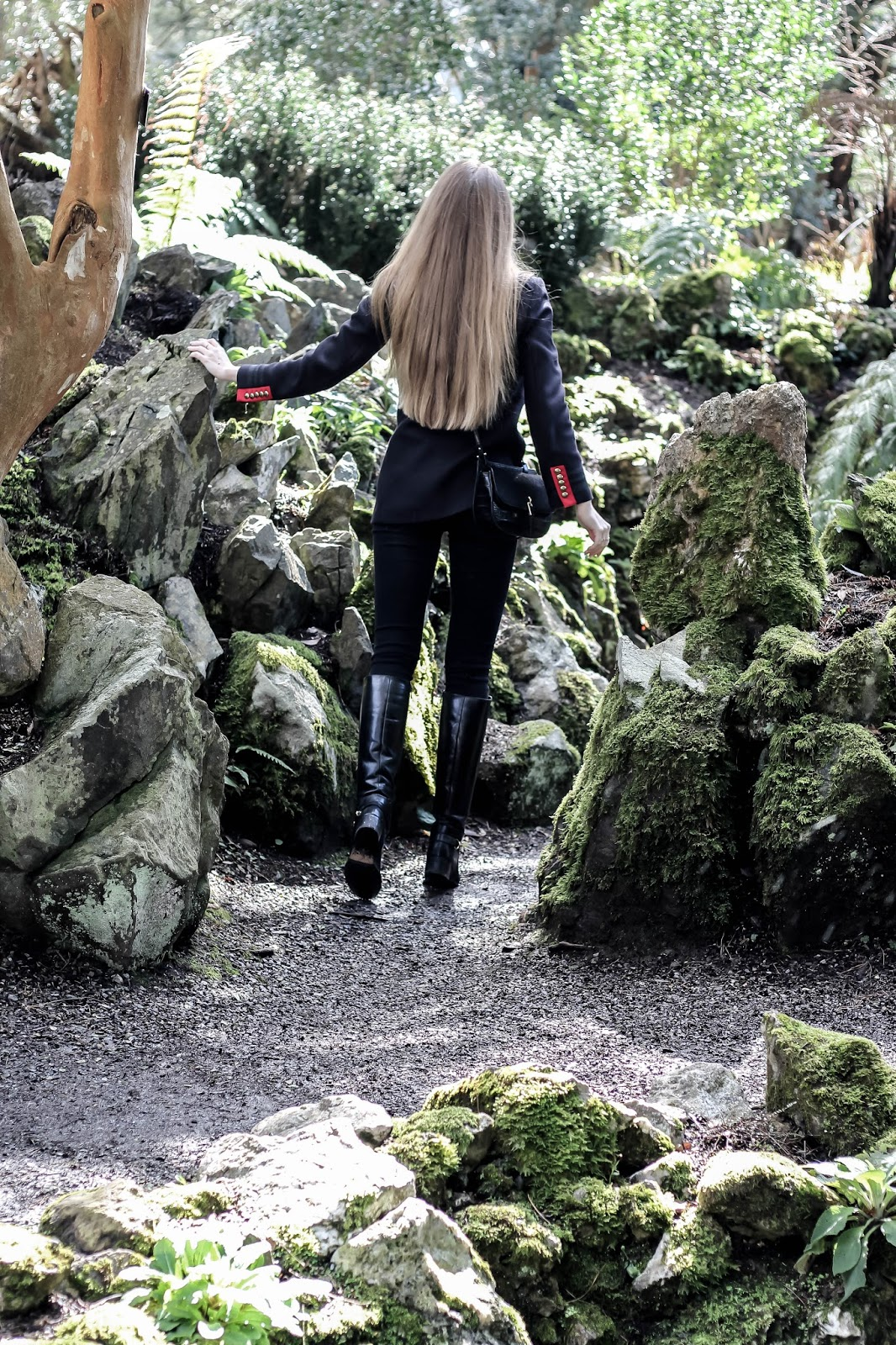 Mystical Scene Girl Exploring Woodland