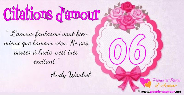 Citation Amour : Andy Warhol