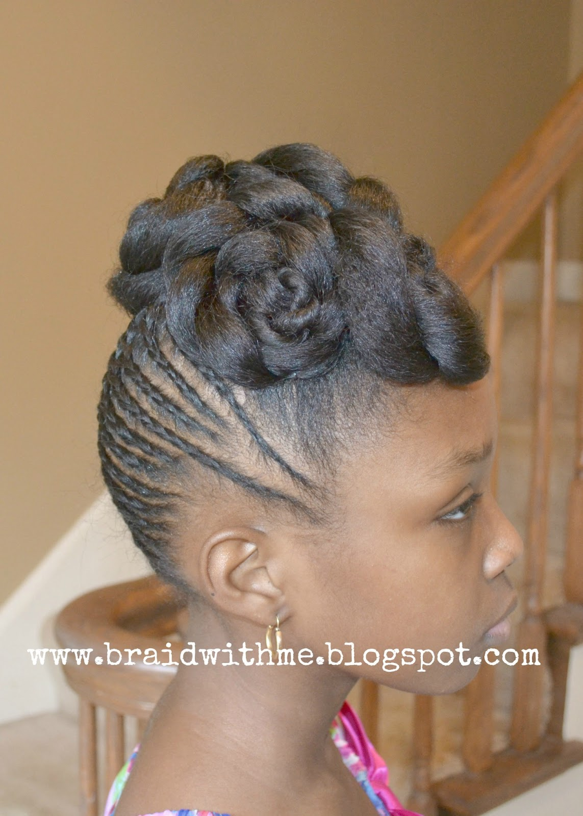 Beads Braids And Beyond Easter Updo For Little Girls