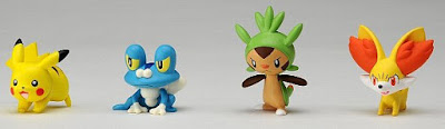 Froakie figure battle pose in Takara Tomy MONCOLLE Pokemon Battle League