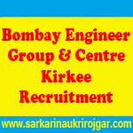 Bombay Engineer Group and Centre Kirkee Recruitment
