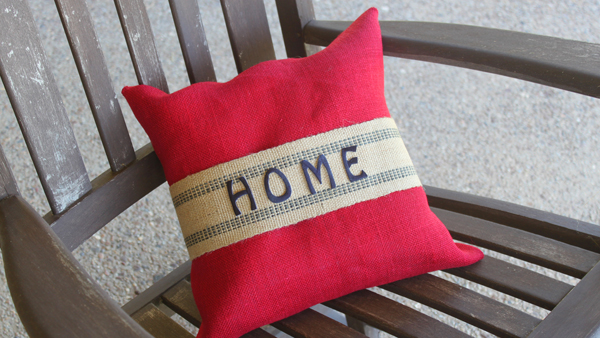 no sew diy pillow