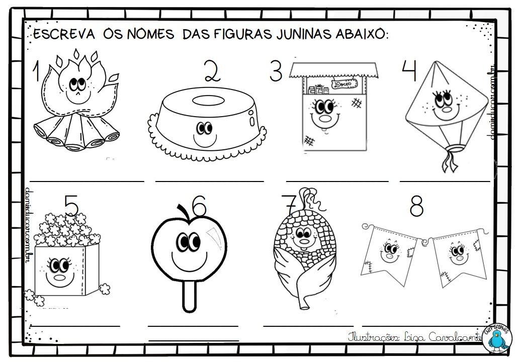 Atividades De Alfabetizacao Festa Junina Atividades Festa