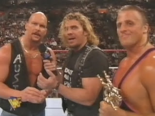 WWF / WWE IN YOUR HOUSE 10: Mind Games - Steve Austin, Brian Pillman, and Owen Hart cut a promo on Bret Hart